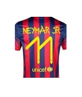 camisa Barça Neymar tipografada por Anna Vives