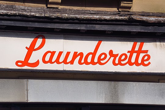 launderette, sign, urban, photography, photo, retro,