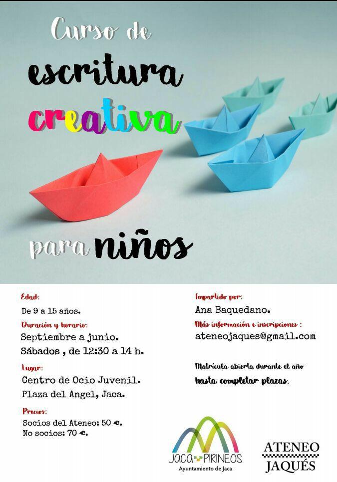 JACA (HUESCA): CURSO ANUAL DE ESCRITURA CREATIVA PARA NIÑOS (De 9 a 15 años)