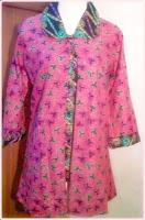 Model baju batik wanita pink
