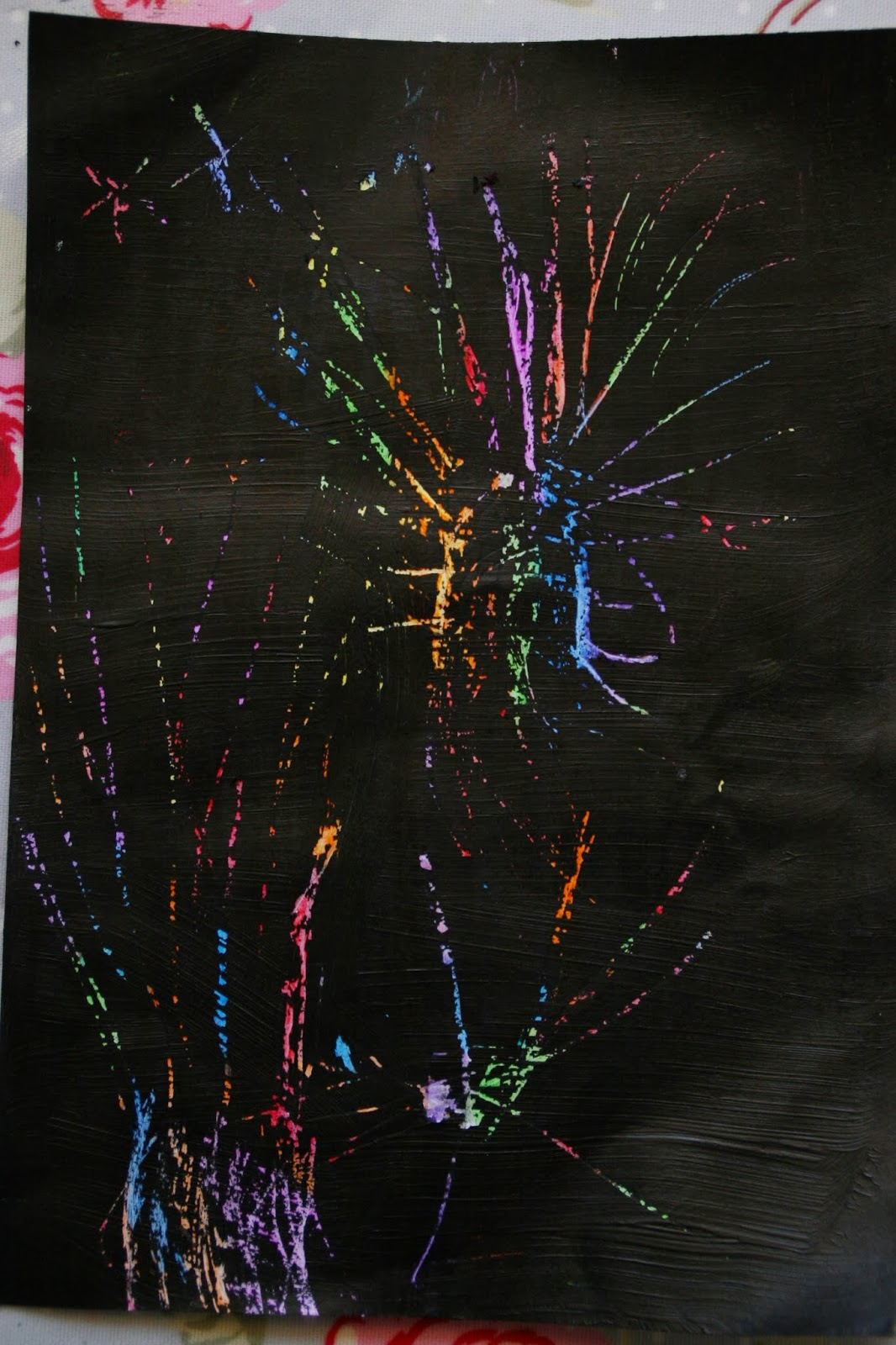Scratch Art Firework Pictures