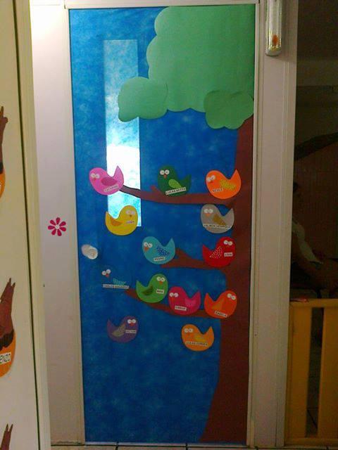 El arte de educar idea para adornar la puerta del aula for Decoracion puerta aula infantil