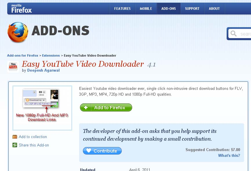 Firefox add ons easy youtube video downloader modageddon download firefox add ons easy youtube video downloader ccuart Images