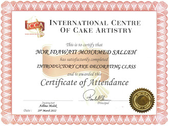 ICCA Certificate