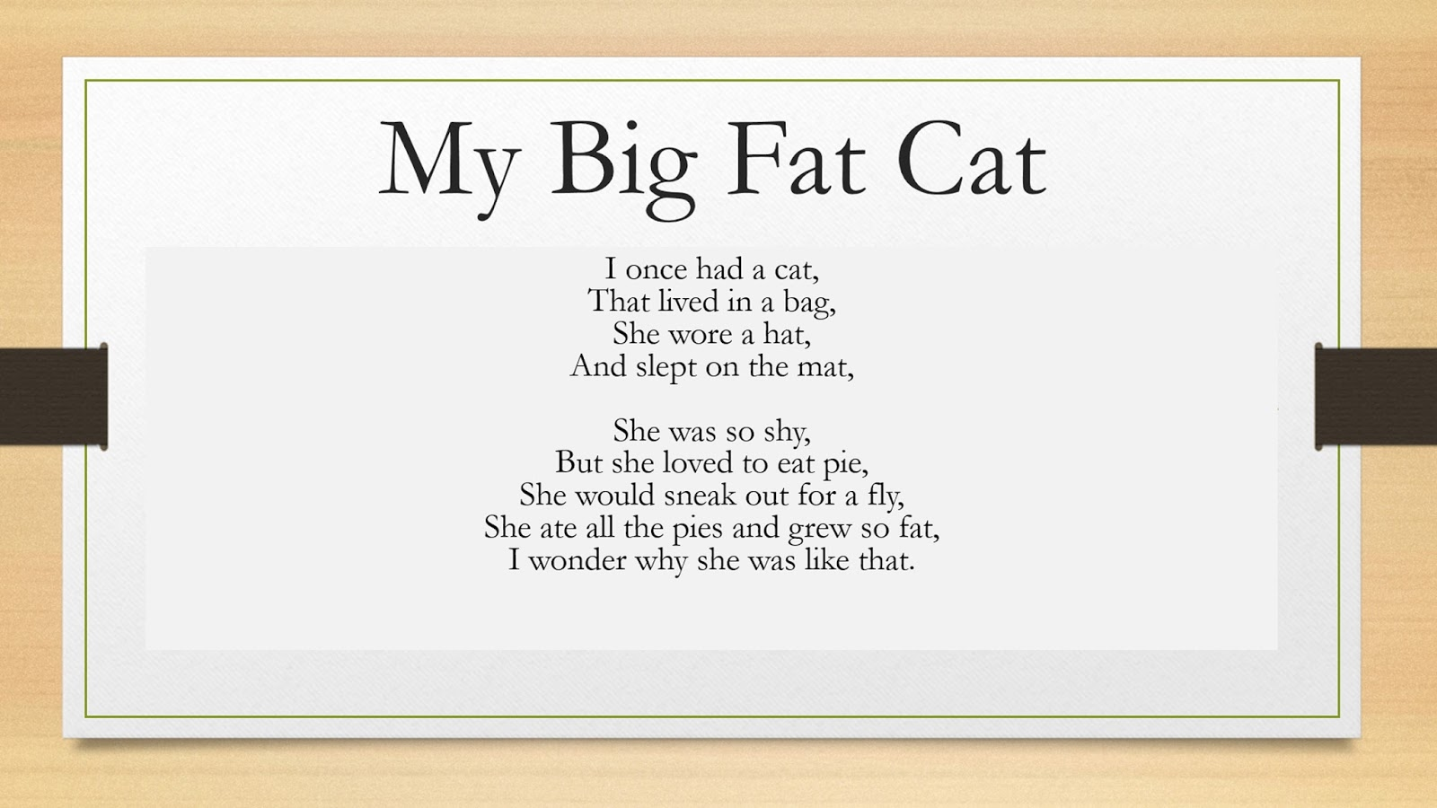 A Little Dose Of Me Animal Poem Quot My Big Fat Cat Quot