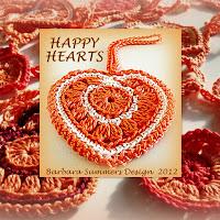 free crochet patterns, hearts, hearts garland, hearts bunting,