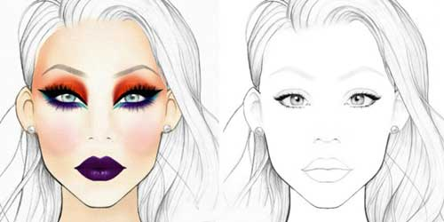 face chart profesional