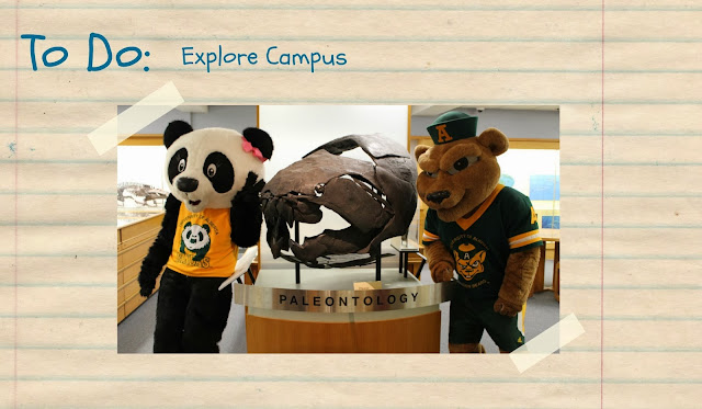 Patches and Guba visit the Paleontology Museum