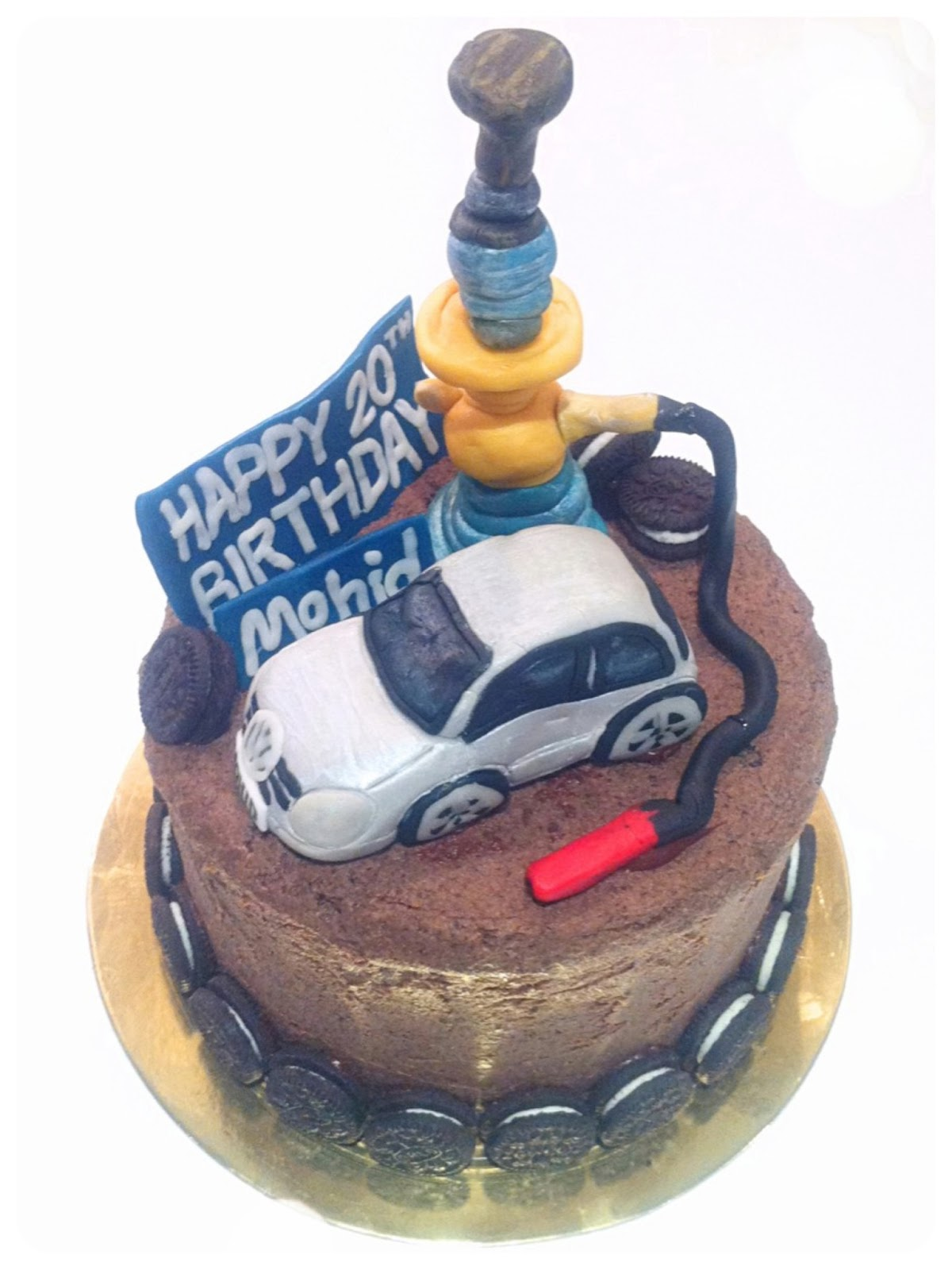 Volkswagen Golf Car And Shisha Oreo Cake Chrie Kelly