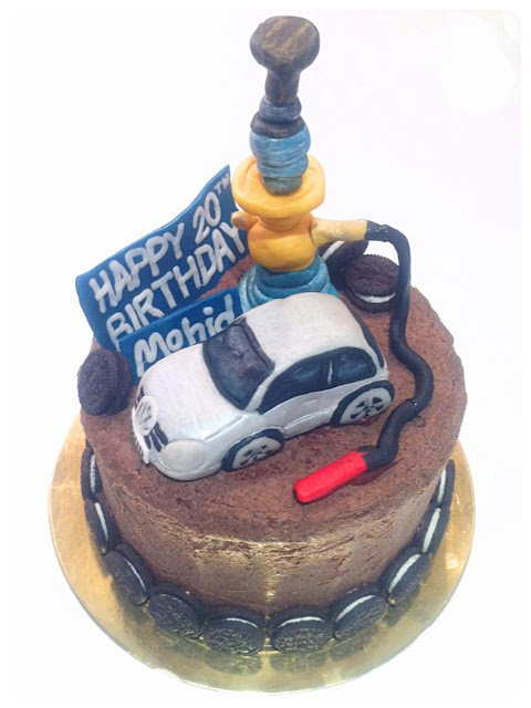 Cherie Kelly's Volkswagen Golf Car and Shisha Oreo Cake