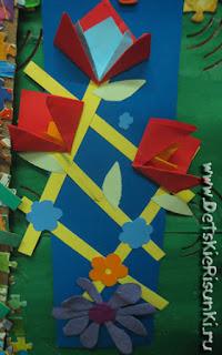Детские Рисунки поделки цветы летние шпалеры
