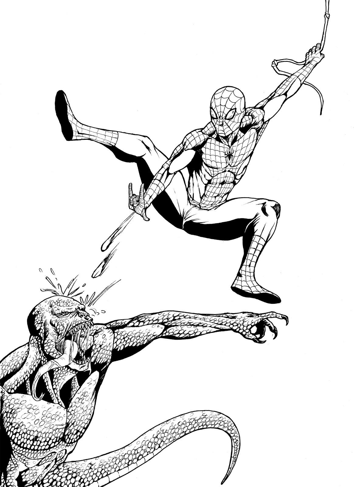 Fumettonfrio blog omaggio per 50anni di spiderman for Spiderman da colorare