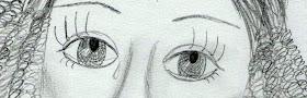 Tužne oči, olovka