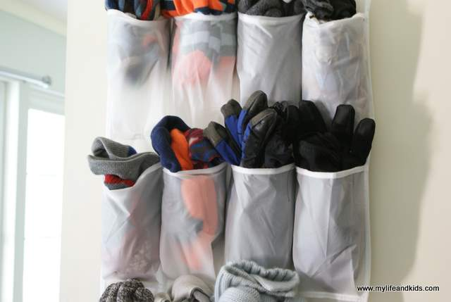 No more mornings spent digging for winter hats, gloves, and scarves! This simple trick for organizing winter gear will save you from the frustration.