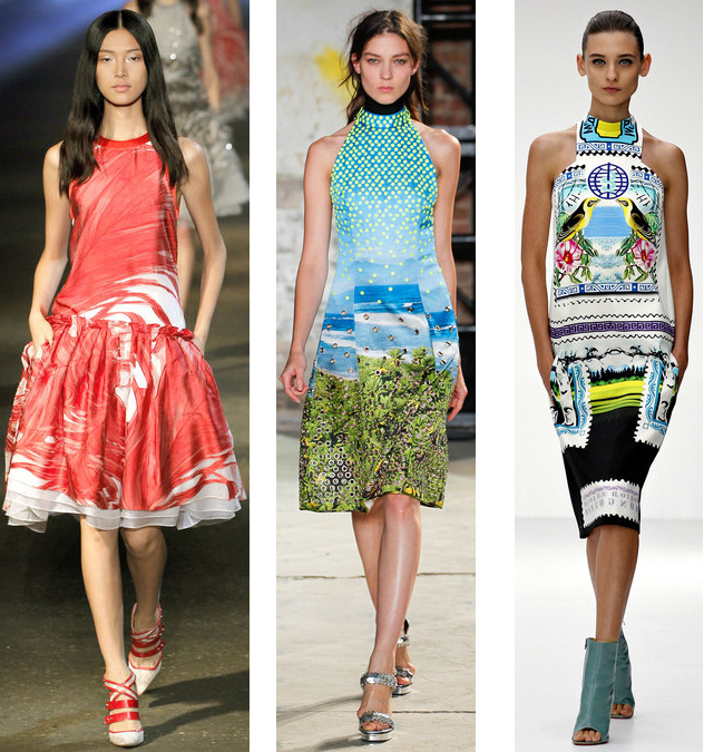 Spring 2013 Digital Prints Trend: Prabal Gurung// Proenza Schouler// Mary Katrantzou