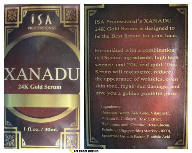 ISA Professional 24k Gold Serum ingredients