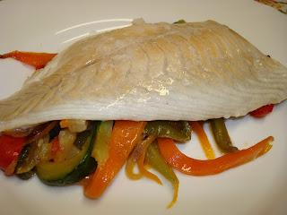 papillote pescado verduras dorada