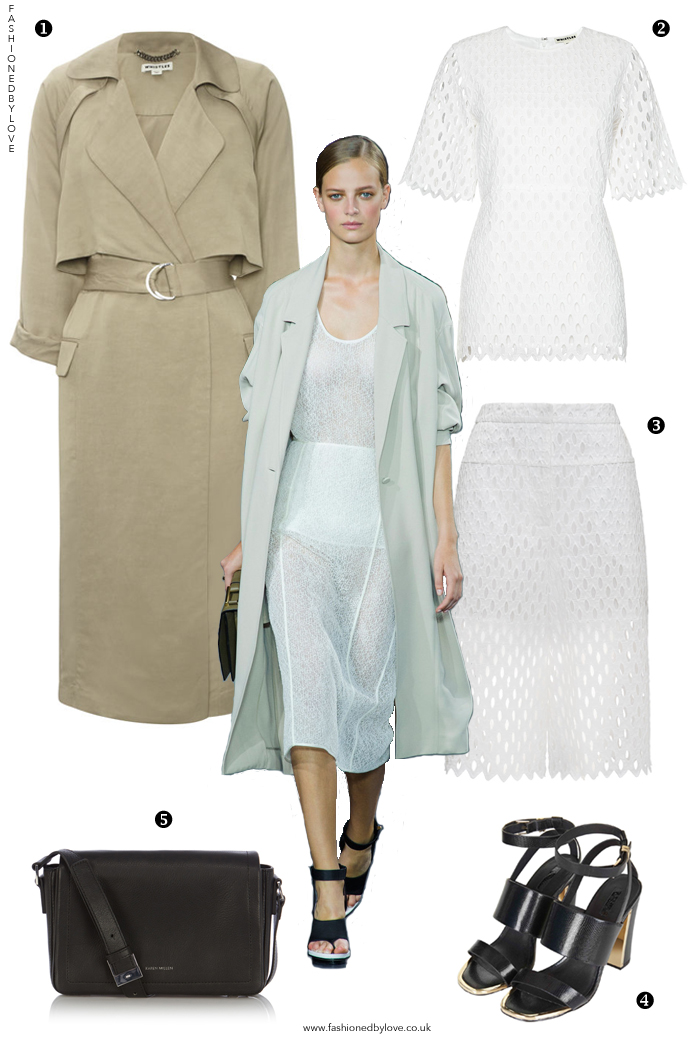How to style a trench coat? How to wear transparent skirt? Outfit idea and designer look for less inspired by Jason Wu Spring/Summer 2015 collection / via fashioned by love british fashion blog