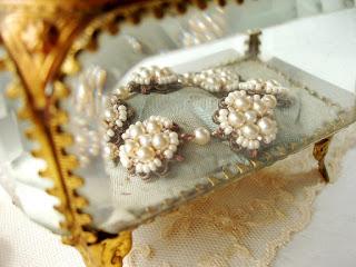 antique glass jewelry casket box wedding jewelry
