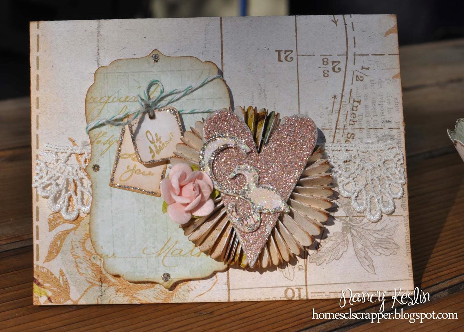 rosette, sizzix, die cut, handmade, valentine