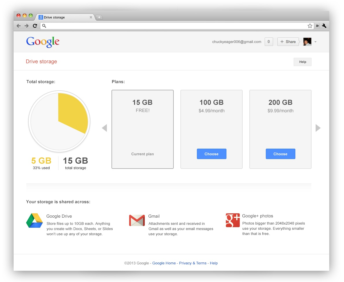 Google Merges Free Drive, Gmail Storage to 15GB