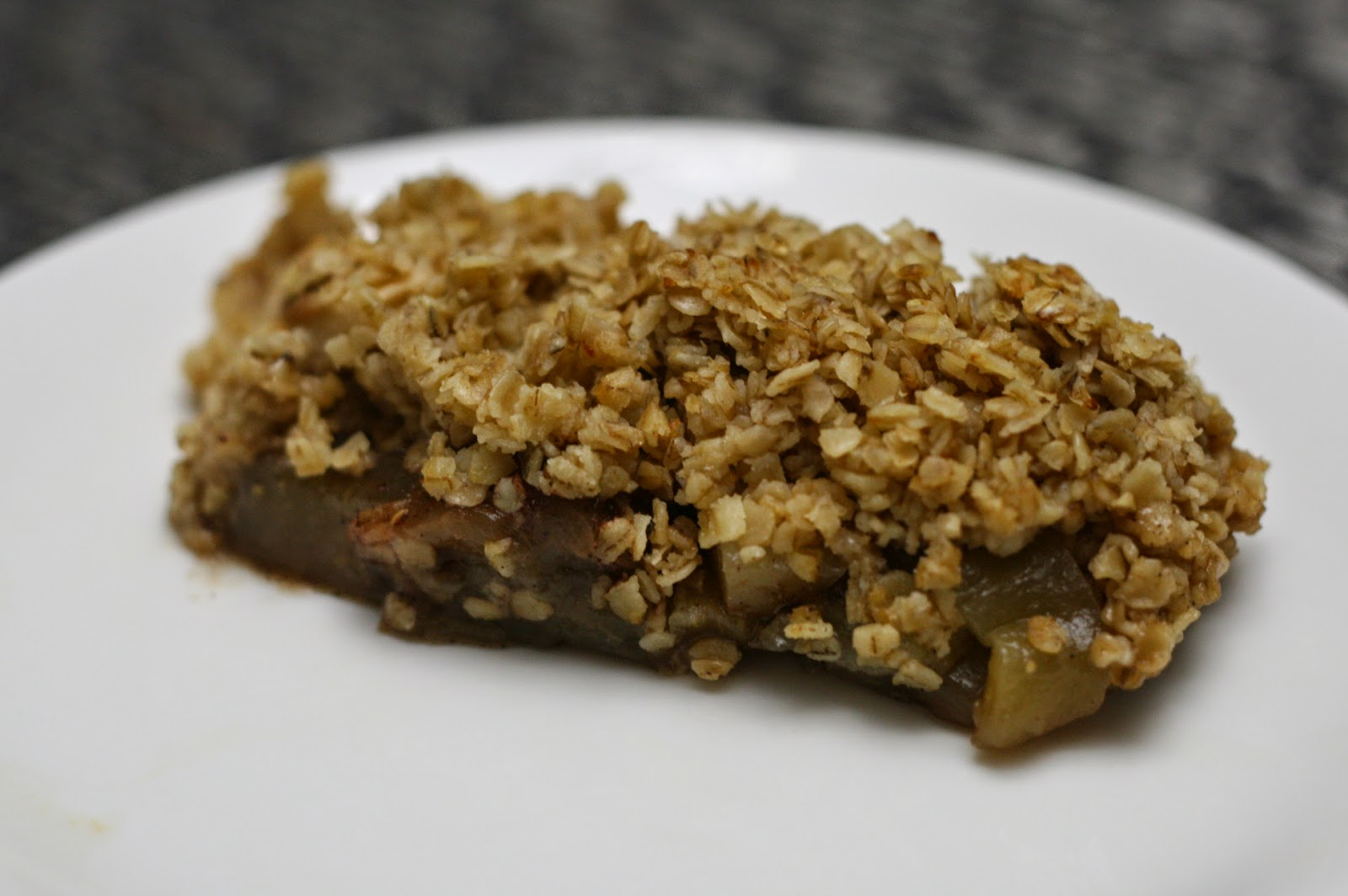 A plate of hot Aubergine Crisp.