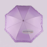 Lavender color wedding umbrella