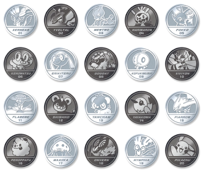 Pokemon Medal Collection XY Bandai