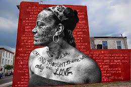 Philadelphia's Mural Arts mural of poet/ performance artist/ social activist Ursula Rucker