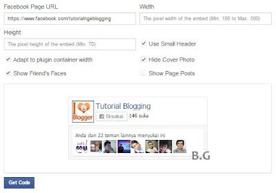 Cara Memasang Widget Facebook Fanspage Like Box pada Blog