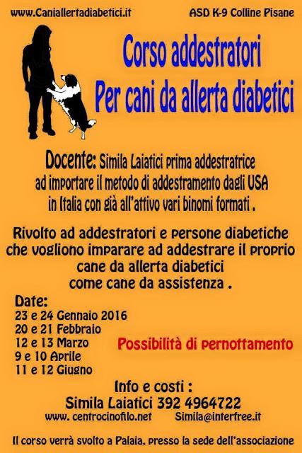 cani allerta diabetici assistenza cinofilia addestramento diabete