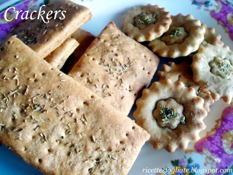 crackers  fatti in casa senza lievito