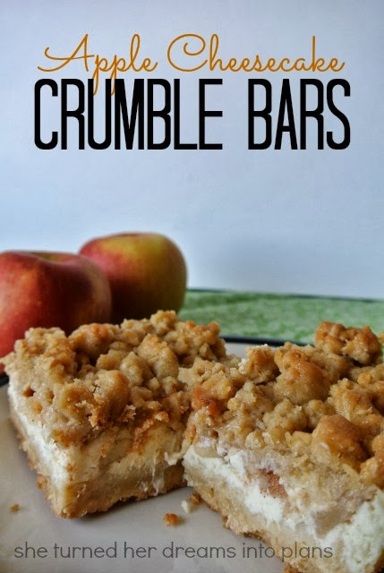 Apple Cheesecake Crumble Bars