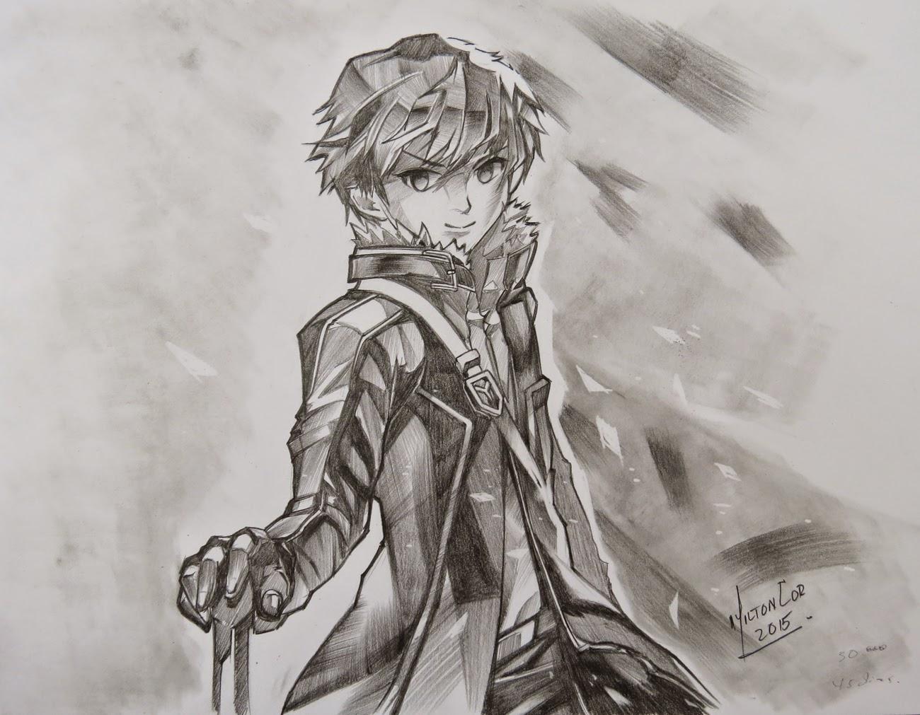 Art painting drawing tips and tutorials drawing kirito from sword
