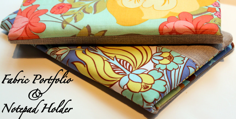 Fabric Notebook Cover : Fabric portfolio and notepad holder tutorial the cottage