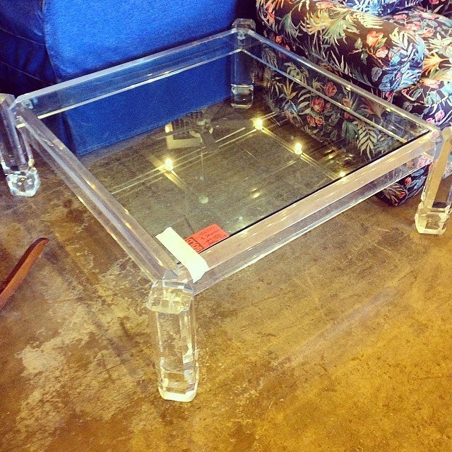 #thriftscorethursday Week 58 | Instagram user: the_gathered_home shows off this Glorious Lucite Table