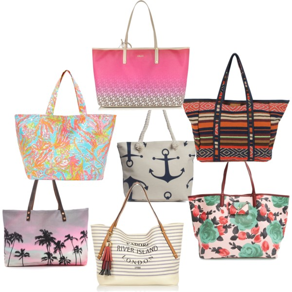 FASHIONABLE BEACH TOTES