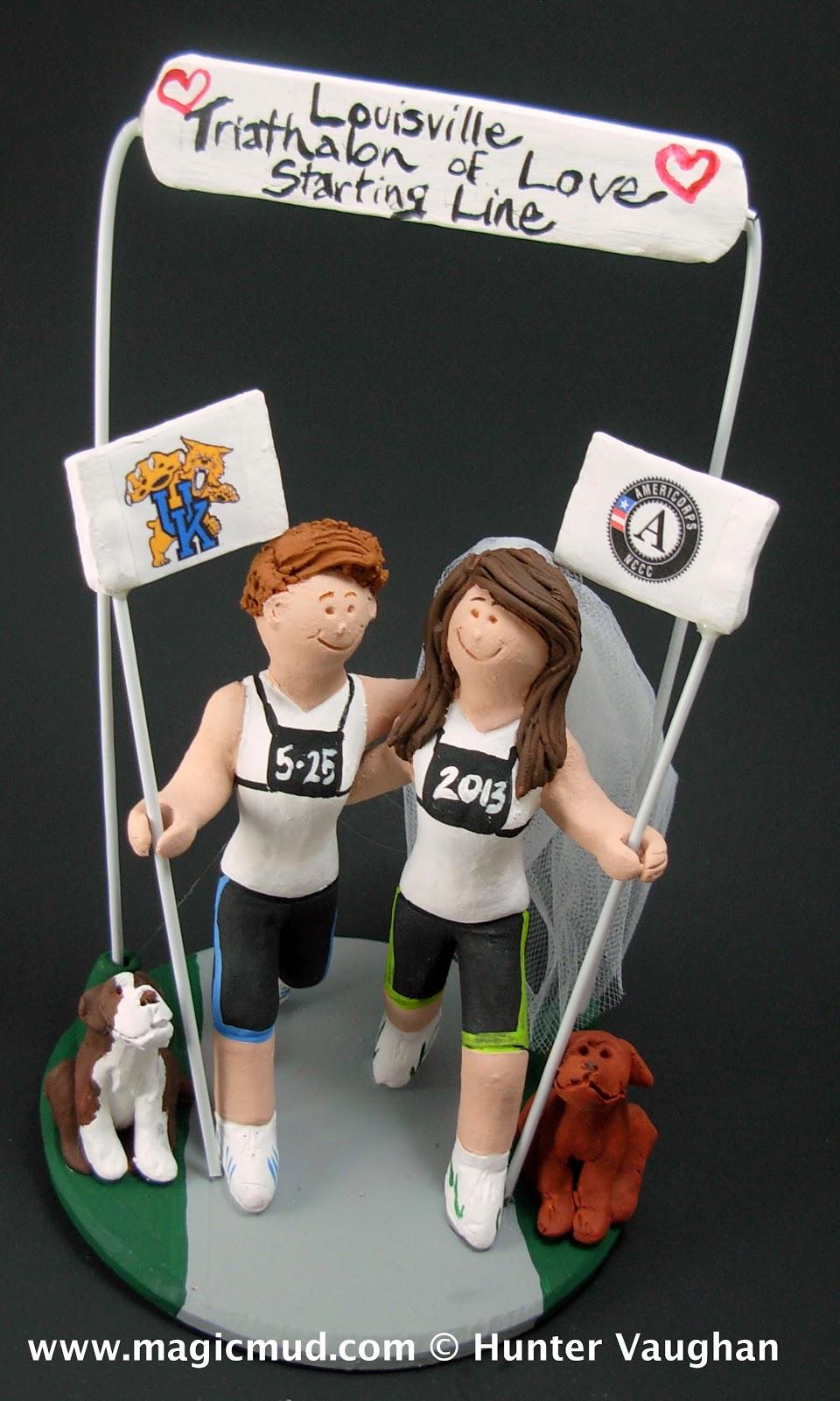 Custom Wedding Cake Toppers Lesbian Marathon Runners Wedding Cake Topper