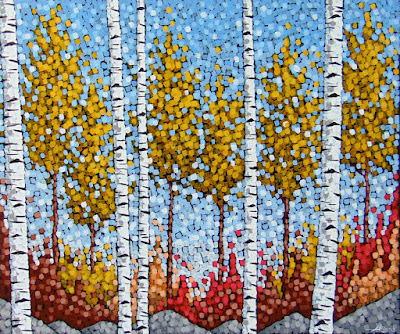 Autumn Sonata acrylic painting by artist aaron kloss