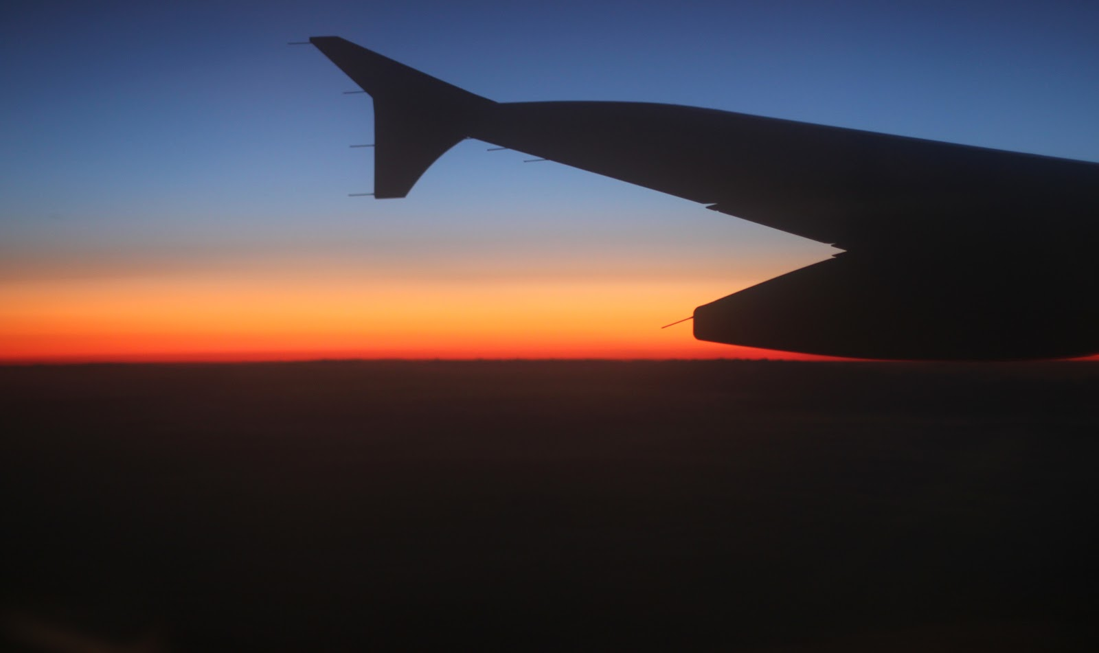 Sunset as viewed from the plane
