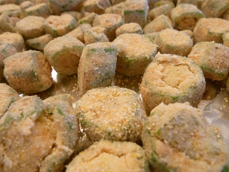 Bake for 20 minutes  remove from oven  flip okra over  lightly spray    Okra Recipes