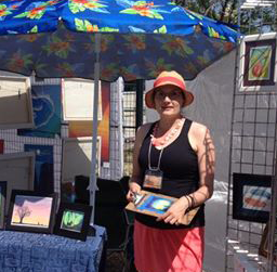 Nadia at the Art Walk 2014