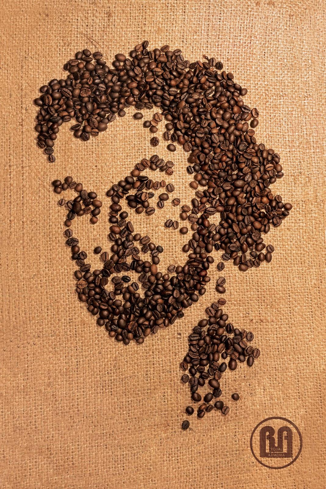 Как сделать картину из кофейных зёрен 51