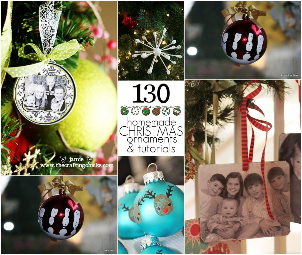 130 homemade christmas ornaments tutorials diy craft for Home made xmas decorations