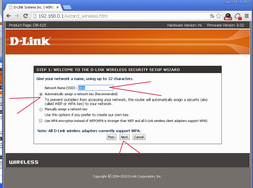 how to change network name in d-link dir-615 router