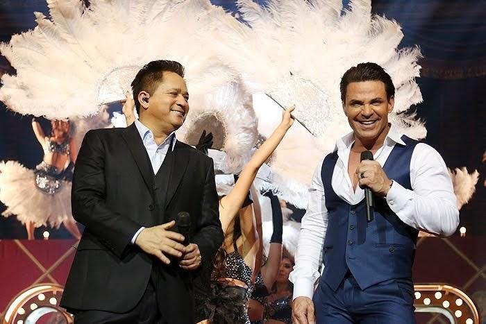 Leonardo e Eduardo na Gravação do DVD Cabaré em sp 10 /09/2014