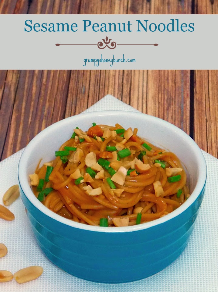 Sesame Peanut Noodles - 4 weight watcher points per serving