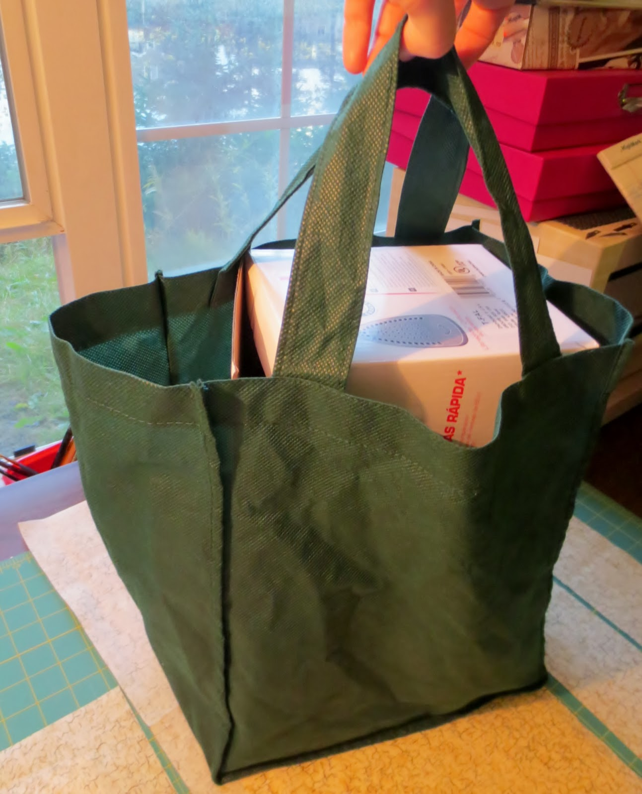 Diy Boxy Grocery Tote
