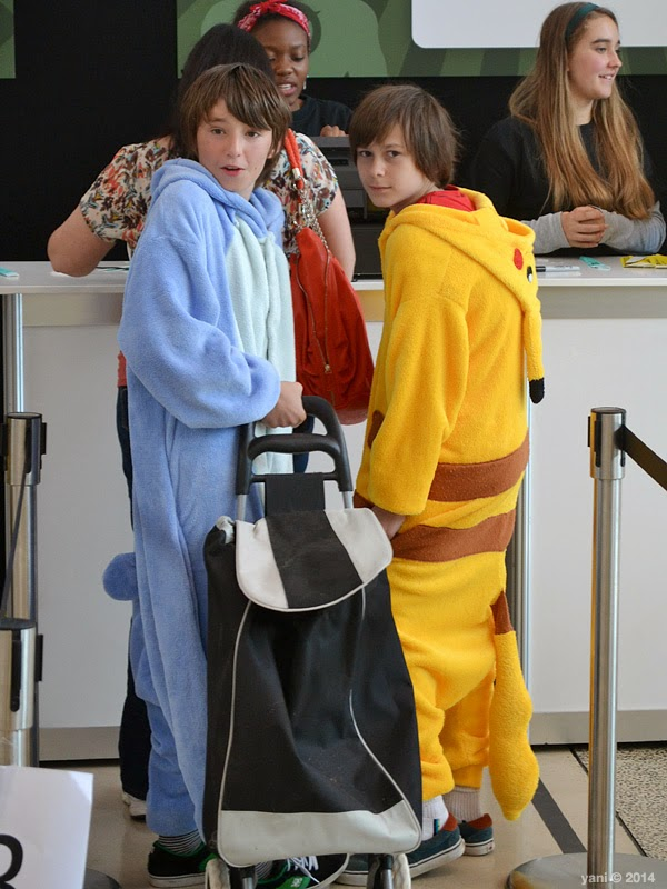 oz comic-con adelaide - stitch and pikachu onesies