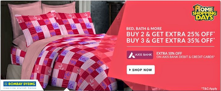 Buy 3, Get EXTRA 35% OFF on Bed, Bath & more  starting Rs. 50 only at Flipkart.